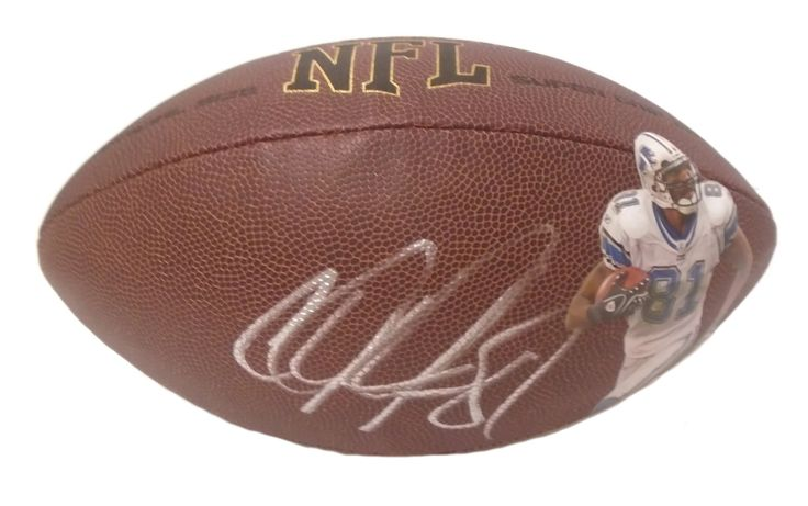 Calvin Johnson Autographed NFL Wilson Composite Photo Football, Proof Photo