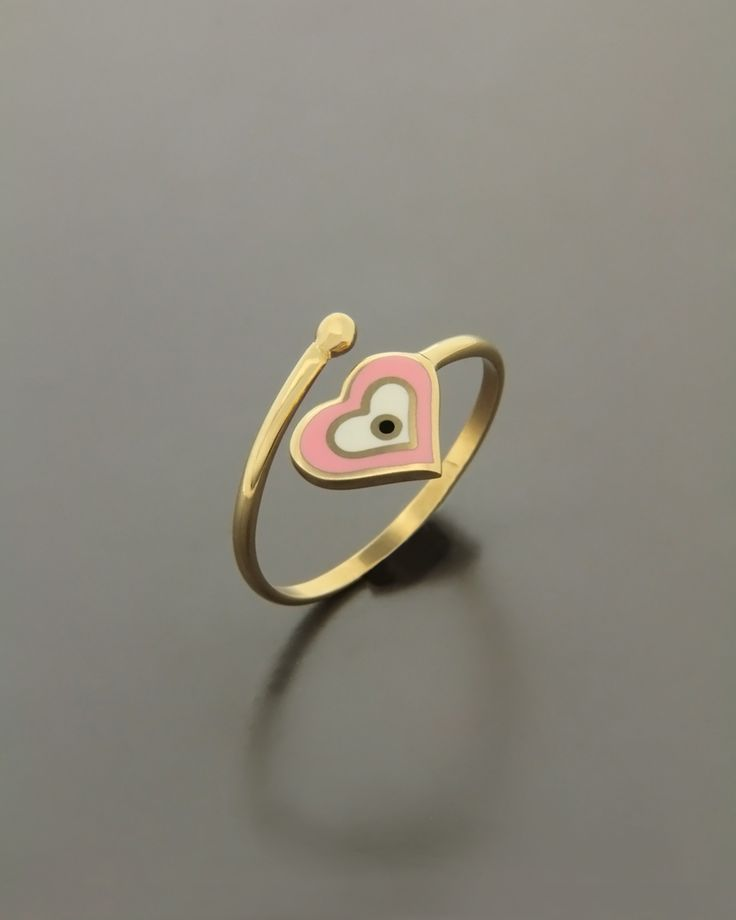 Παιδικό δαχτυλίδι χρυσό με Σμάλτο