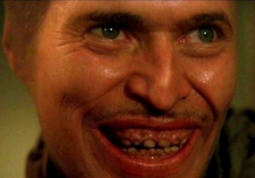 "William Dafoe as creepy Bobby Peru in Wild at Heart: ""Say it! I'll tear your fuckin' heart out, girl!"""