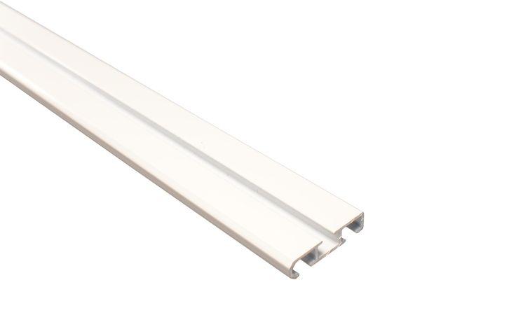 Alu Gardinenschiene 2 Lauf - Aluminium Gardinenschiene 2-läufig weiß - Bild 2