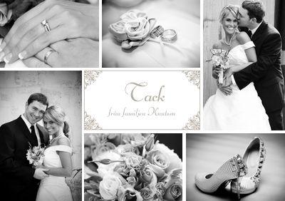 Tackkort bröllop med foto