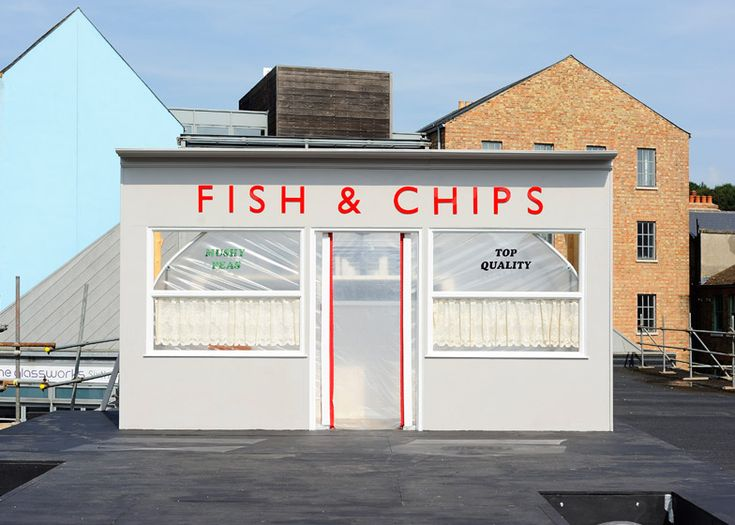 Rooftop fish and chip shop by Something & Son is (slowly) growing its own produce.