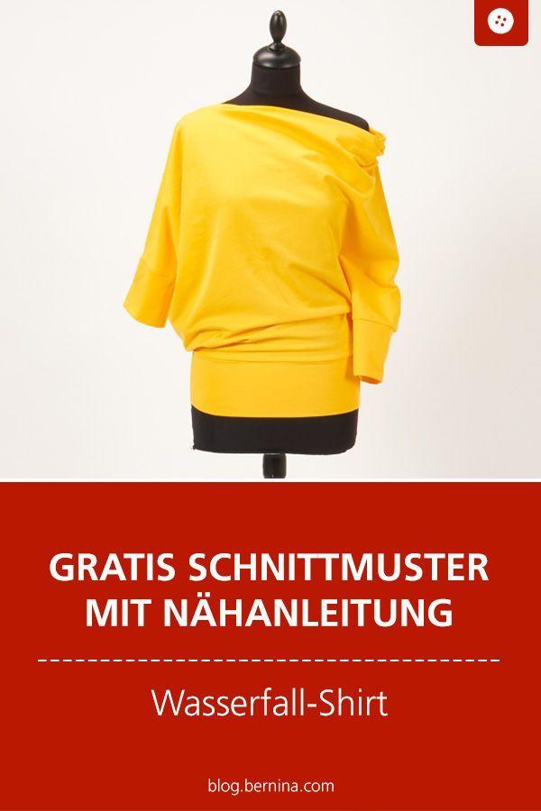 Nähanleitung und Schnittmuster für das gelbe bernette Shirt