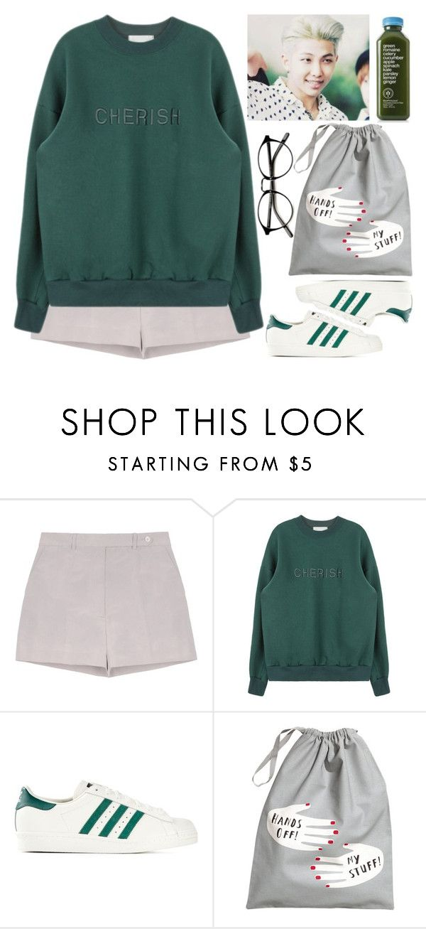 """""""Training with Rap Monster (BTS)"""" by evil-maknae ❤ liked on Polyvore featuring Rochas, adidas Originals and H&M"""