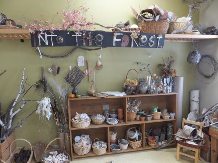 """Beautiful storage of natural materials - from Preschool of the Arts ("""",)"""