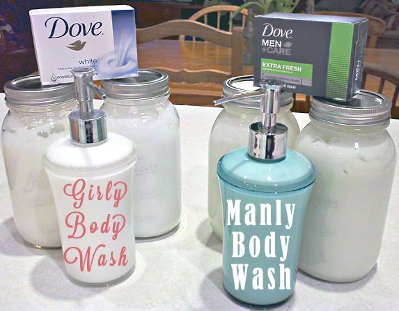 DIY How-To Dove MEN + CARE Body Wash (No-Grate) Homemade: Homemade Body Wash, Plastic Bottle, No Grat Homemade, Good Things, Semi Homemade, Bar Soaps, Soaps Dispenser, Homemade Bodywash, Diy Body