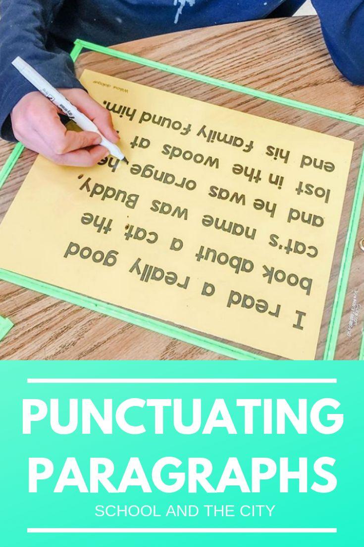 Punctuation Paragraphs