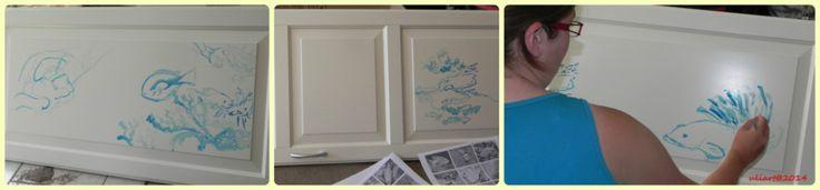 Türbild / painting at the door   Wie meine Tochter ein Bild malt ;-)  --- How my daughter painted a picture.  ;-)