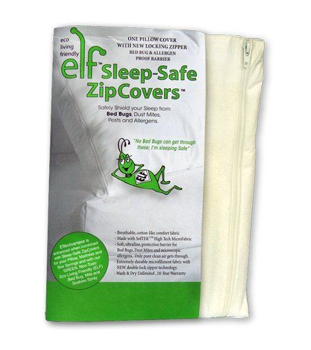 sleep safe zipcover evolon pillow cover bed bug allergen pillow encasement queen pillow