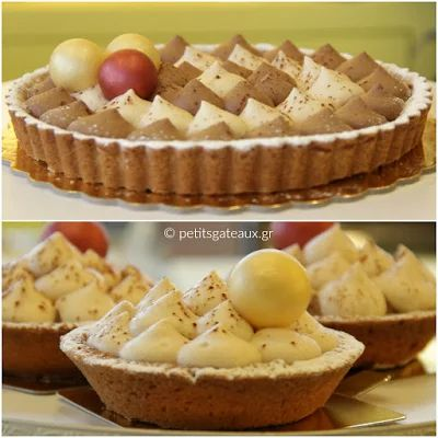 Tarts with chestnut and chocolate mousse!