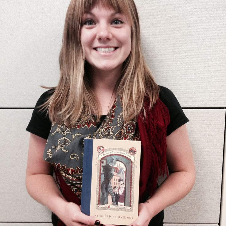 """I'm Madison from HarperClassroom! I am thankful for Lemony Snicket and the Baudelaire siblings. I was a big fan of the Addams Family and other abnormal families, so """"A Series of Unfortunate Events"""" became a much loved part of my childhood. #ThankYouKidsLit"""