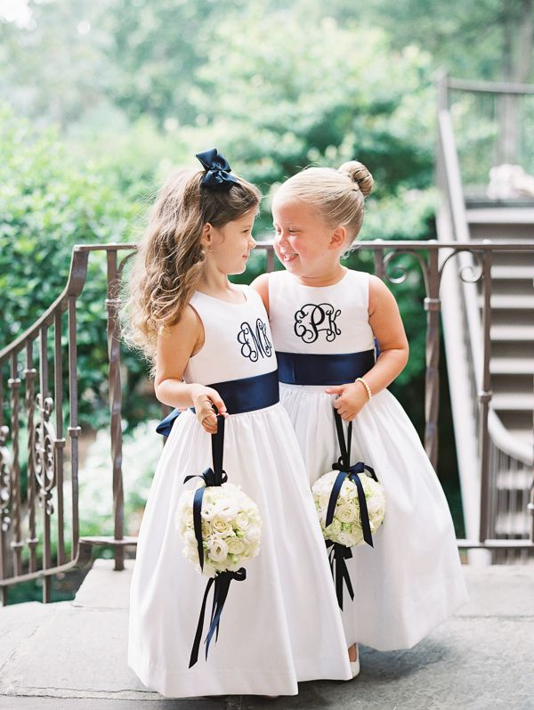 Monogrammed flower girls | Landon Jacob                                                                                                                                                                                 More