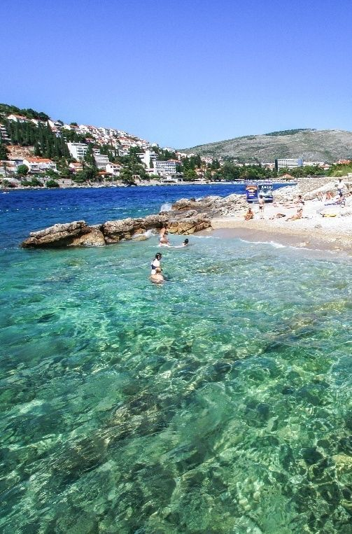 Beach Splendid, Dubrovnik. Click pin through to post for more amazing Croatian beaches!: