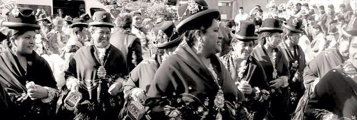 Bolivian womens dancing for Nossa Senhora de Copacabana party.