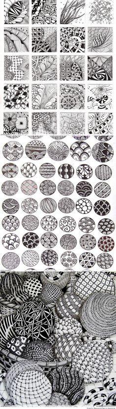 Zentangle Patterns & Ideas                                                                                                                                                      More