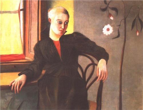 Woman Sitting by the Window - Tivadar Kosztka Csontvary 1895