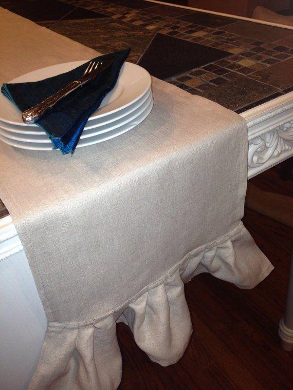 Naturally Elegant Premium Pure Fine Linen Table Runner Soft