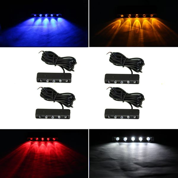 12V Motorcycle Scooter SUV General Modification LED License Plate Lights