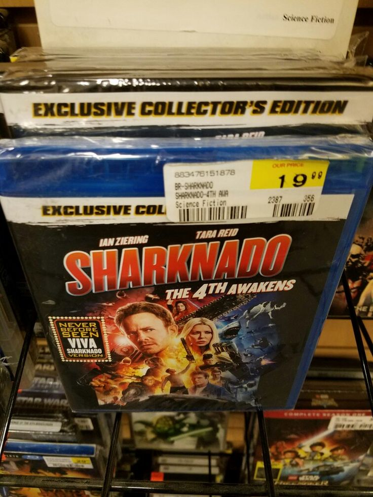 """The f.y.e. music, movie, and novelty store in Plymouth Meeting Mall in Plymouth Township, PA carries the fourth installment of the Syfy Network's Sharknado B-movie series: """"Sharknado: The 4th Awakens."""" It is $19.99 too much."""