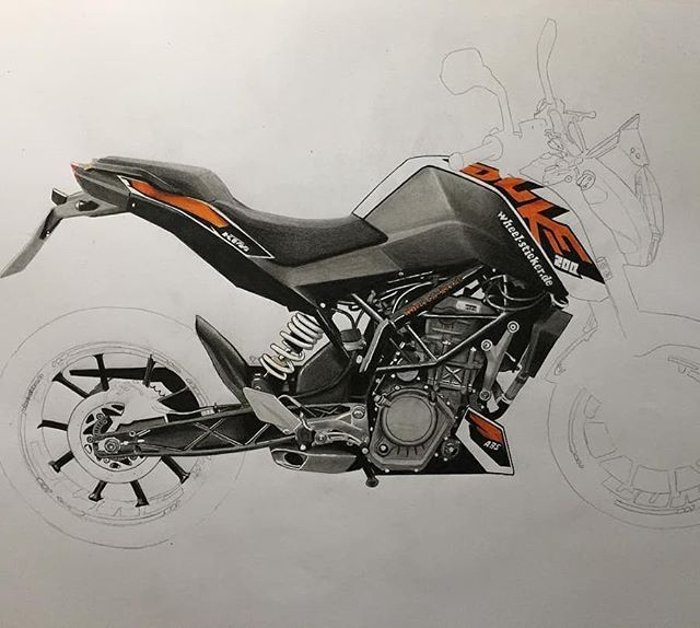 Pin By Kaush Boy On Motorcycle Artwork Duke Bike Ktm Duke Bike
