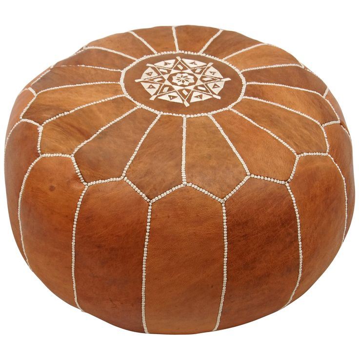 nuLOOM Handmade Casual Living Leather Moroccan Ottoman Pouf | Overstock.com Shopping - The Best Deals on Ottomans