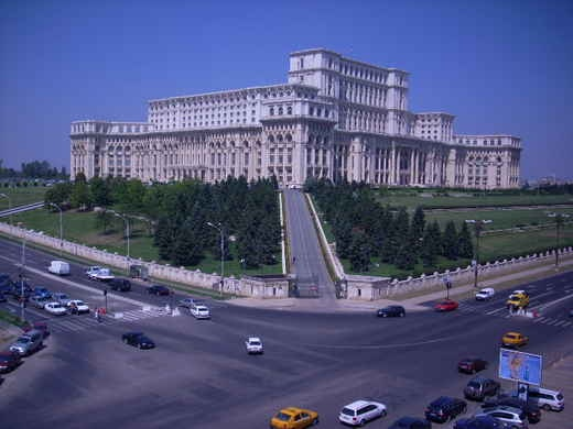 Ceaucescu's Palace of the People. Bucharest, Romania.