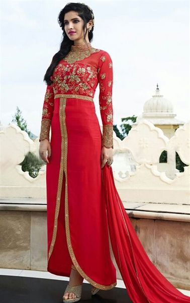 Picture of Artistic Hot Pink Party Wear Pant Kameez