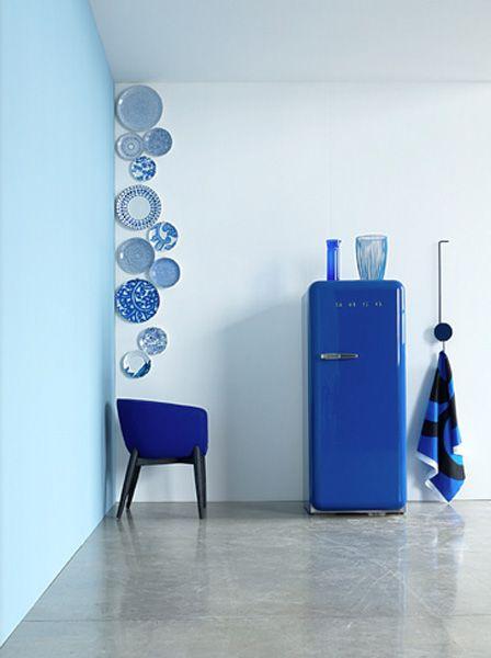 cozinha com geladeira azul - Pesquisa Google