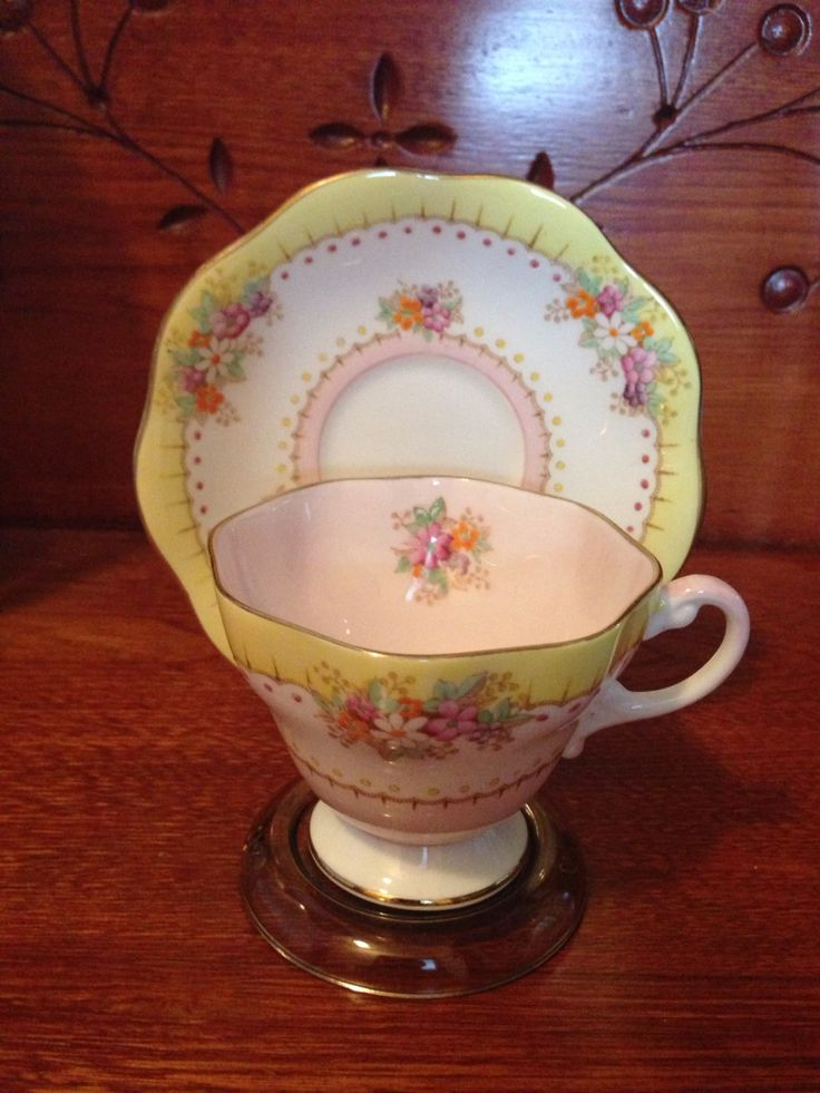 Foley Bone China. Foley was in business 1898-1940. This cup & saucer was made after Elijah Brain took over Foley China in 1850 & was probably made sometime between 1920-1940. Estimated Value $24.99.