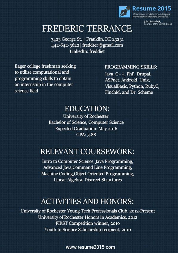 19 best resume 2015 images on pinterest resume templates sample