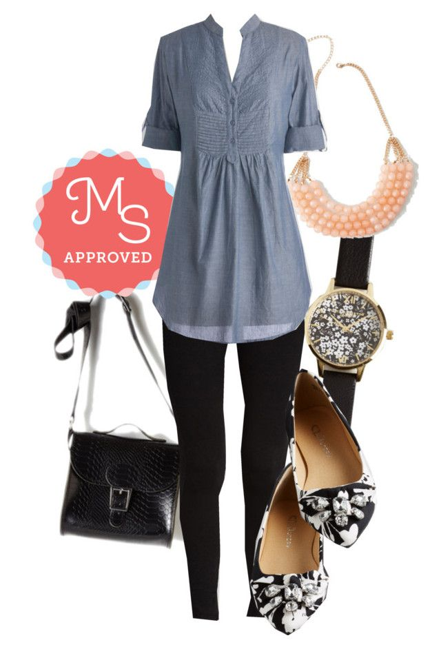 """""""Back Road Ramble Tunic in Stream"""" by modcloth ❤ liked on Polyvore featuring Brit-Stitch, Olivia Burton, CL by Chinese Laundry, women's clothing, women, female, woman, misses and juniors"""