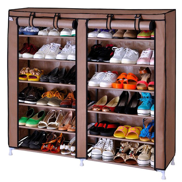 Simple shoe shoe cabinet storage rack large capacity double cabinet waterproof non woven-inShoe Racks from Furniture on Aliexpress.com