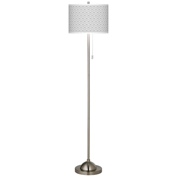 Diamonds Brushed Nickel Pull Chain Floor Lamp - Style # 99185-4T573