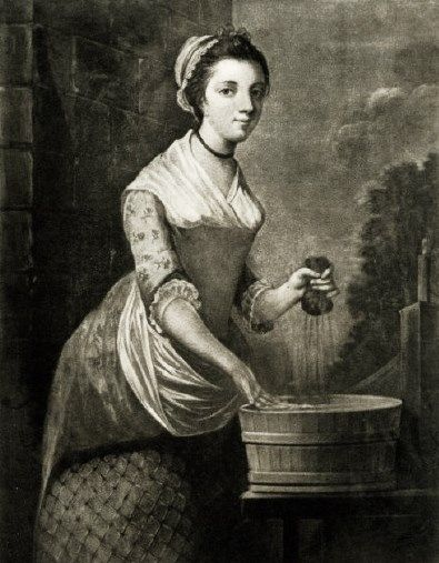 18th-century American Women: Women doing laundry in the 1700s