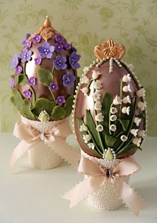 My godmother used to give me some Easter Eggs like these when I was a child.