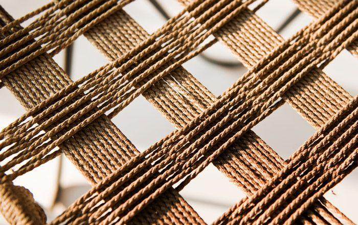 Władysław Wołkowski, stool - metal framework (detail) with string weave, 1950s-1970s
