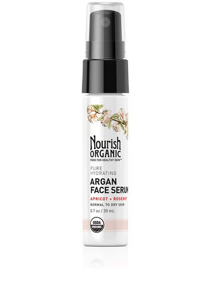 Pure Hydrating Organic Argan Face Serum With Apricot + Rosehip Deeply hydrates and replenishes skin Brightens and revitalizes complexion Regenerates...