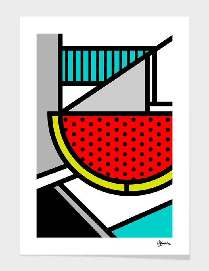 """""""Abstracts 101: Watermelon"""", Exclusive Edition Fine Art Print by Mike Karolos - From $35.00 - Curioos"""