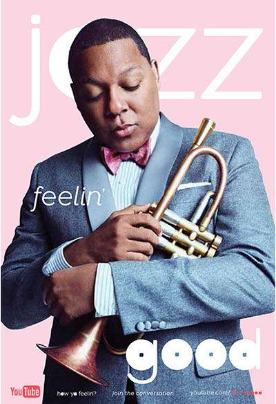Poster featuring Wynton Marsalis, Managing and Artistic Director of Jazz at Lincoln Center.