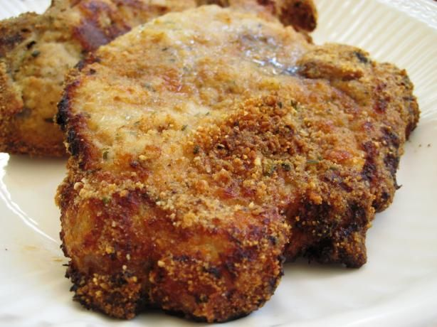 Breaded Baked Pork Chops from Food.com:   From my friend Denise!! Totally Yummy.  								Another combination of several recipes. The sage and Italian bread crumbs really make this a tasty dish!