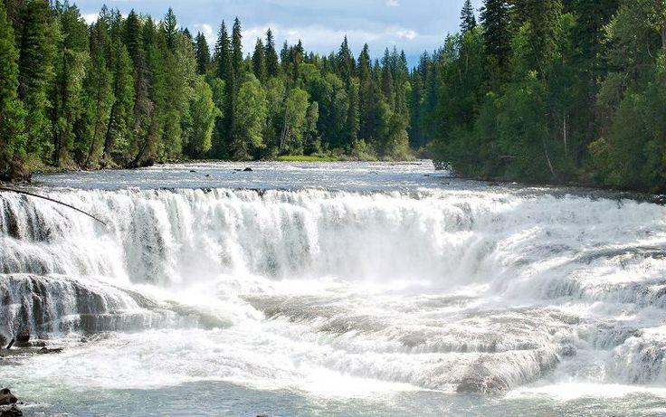 Beautiful waterfall at Wells Gray park BC