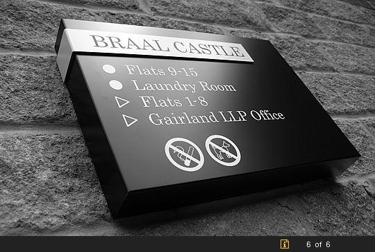Braal Castle, Halkirk, Composite Sign