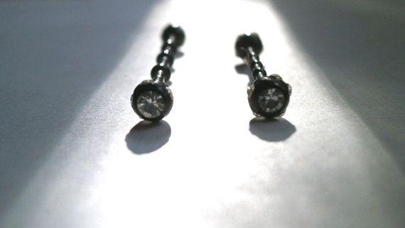 Industrial Barbell Upper Ear Earring by JewelryByKonstantis