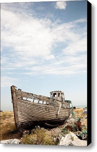 Wrecked Boat Canvas Print / Canvas Art - Artist Dawn OConnor by Fine Art America, http://www.amazon.com/gp/product/B009LAQ82Y/ref=cm_sw_r_pi_alp_m0POqb0RRS39S