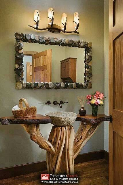 If ever I build my log cabin dream home, this will be in one of the bathrooms!