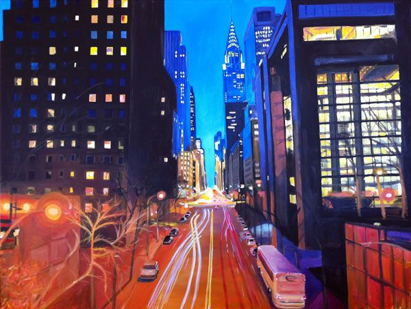 Angela Wakefield - New York Series No23 42ndStreet - 36x48in