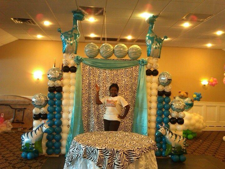 Sesame Street Balloon Arch Baby Shower Backdrop Cake