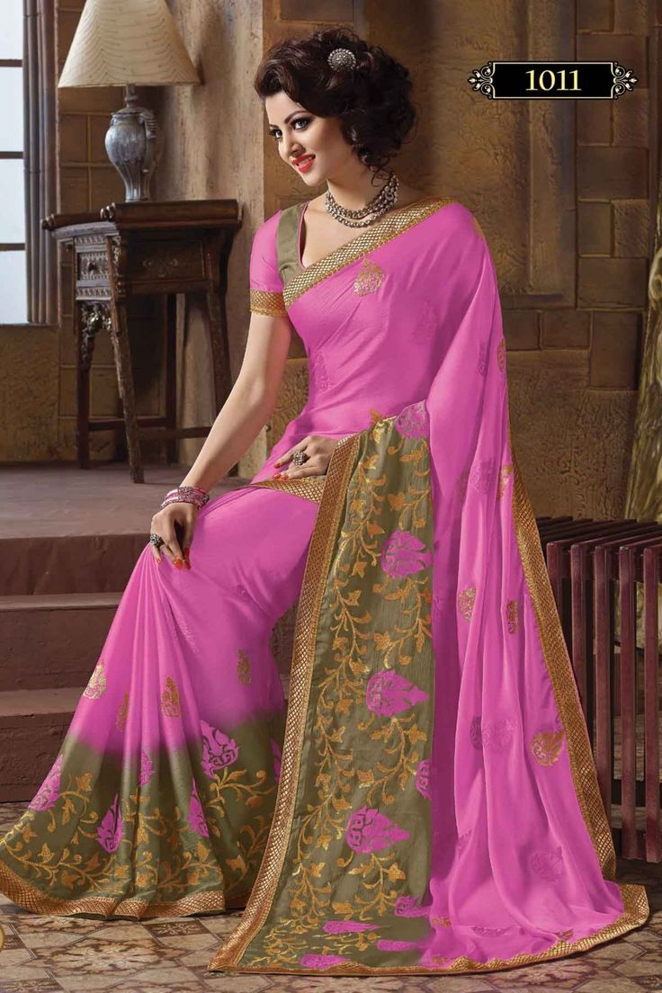 Look Adorable with Pink Crepe Designer Saree Shop Now @ http://zohraa.com/pink-crepe-designer-saree-z1134p1011-37.html SKU: Z1134P1011-37_E Rs. 2099/- (Your order will be shipped within 1 day from the date of purchase)