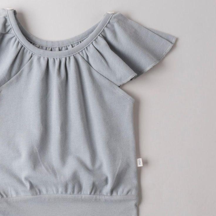 "76 Likes, 3 Comments - Minimalisma (@minimalisma_com) on Instagram: ""t h y r a ♡  Thyra romper   crispy cotton piquet   fog blue   mother-of-pearl buttons ♡…""  www.minimalisma.com #luxurybasics #kidswear"