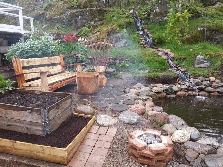 Hantverk möbler och vattenfall